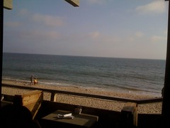 Perfect view of the ocean from our table at Gladstones