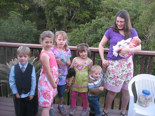 Grandchildren with Bernadette