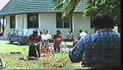881114 Women's Coconut Husking Race (rona.h) Tags: november 1988 tonga cloudnine nukualofa ronah