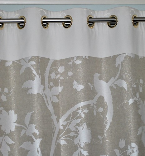 Bird print curtains