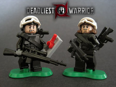 SWAT vs GSG 9 (Hound Knight) Tags: lego warrior minifig custom deadliest brickarms brickforge