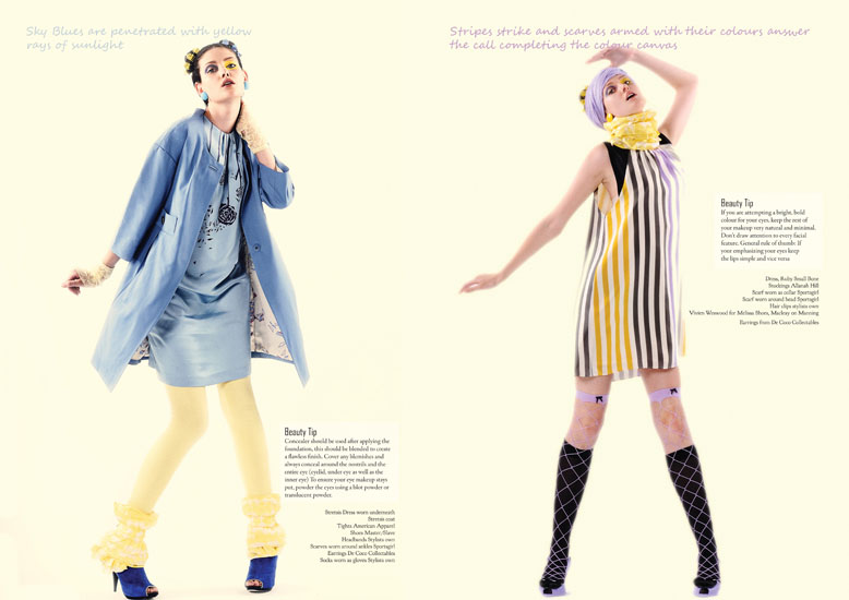 Fashion Editorial, Studio Photography, I Can Sing A Rainbow p4-5
