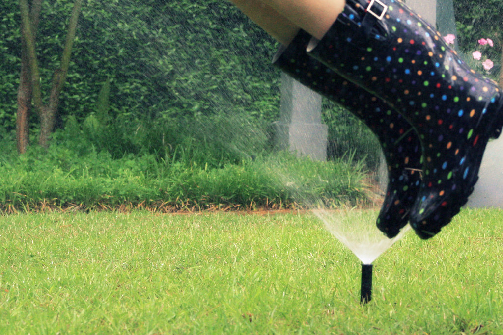 Day 122 ~ Are you ever too old to run through the sprinkler?