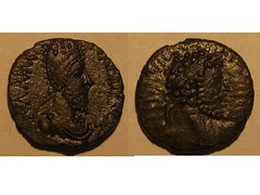 Ancient coin of Edessa (Baltimore Bob) Tags: old money rome coin ancient roman edessa mesopotamia parthian parthia