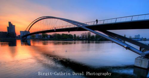 Dreiländerbrücke at dawn