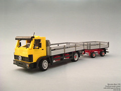 Mercedes-Benz 1320 (Biczzz) Tags: truck mercedes benz team model lego trailer 1320 lugnuts comunidade modelteam 0937 comunidade0937