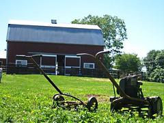 Old Fashioned Lawn Mowers