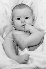 My baby (soleyosk) Tags: portrait baby white black cute girl barn infant stelpa