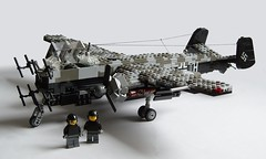 Heinkel He-219 Uhu (5) (Mad physicist) Tags: germany lego aircraft wwii heinkel ww2 nightfighter