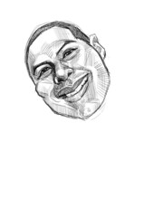 digital sketch of Moises - 1