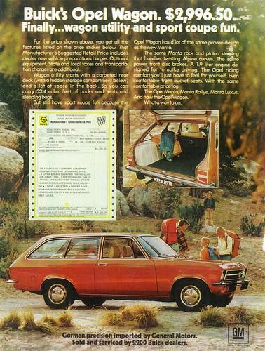 1973 opel wagon