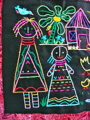 South African Girls Embroidery