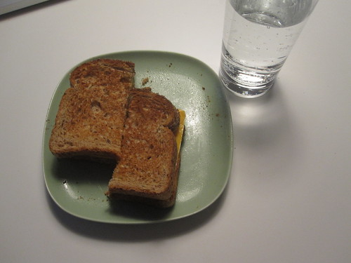 cheese sandwich, Perrier