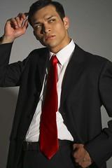 crimson 9 (Lorenzo David Photography) Tags: red man male crimson fashion pose magazine photography photos ad formal tie clothes suit attire lorenzodphotography