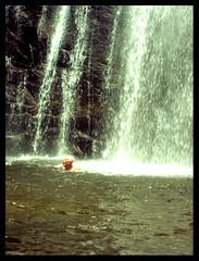 Wasserfall im ostafrikanischen Urwald