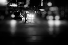 "Street blues (""Elox"") Tags: street light urban night hotel geneva bokeh blues explore"