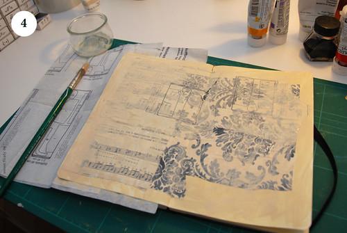 Artbook background with acryl, Step 4