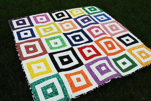 bright squares quilt finished!