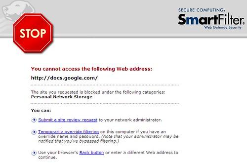 google docs - blocked