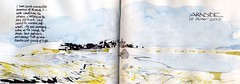 Arnside (skyeshell) Tags: seascape ink landscape sketchbook estuary cumbria watercolour arnside paletteknife mixedmediapainting openskies expressivepainting sketchbookjournal gesturalpainting