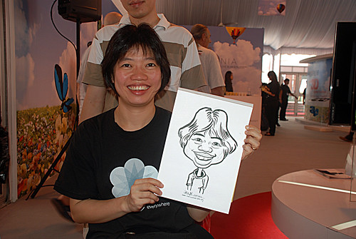 caricature live sketching for LG Infinia Roadshow - day 1 - 4