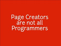 w2sp: Slide 1: Page Creators are not all Programmers