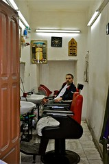 Tunis Barbershop (sfPhotocraft) Tags: africa haircut shop chairs northafrica tunisia tunis barbershop barber lonely 2010 nobusiness