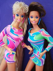 Totally Hair Barbie 1991 (Chicomαttel) Tags: hair barbie 1991 mattel inc totally