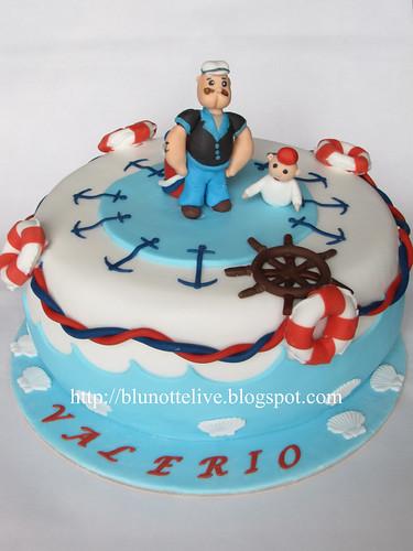 popeye Christening cake