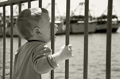 L'innocente voglia di scoprire come  fatto il mondo_the innocent desire to discover as it is made the world (DISAMISTADE_my life is a reportage!) Tags: mare concept brindisi bambino concettuale