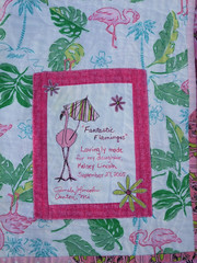 Flamingo quilt  label 04