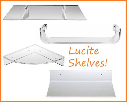 Lucite Shelves