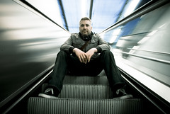 Moving escalator Portrait (Marco Boekestijn) Tags: light portrait people urban motion blur netherlands up station stairs speed train subway photography lights moving nikon long exposure pretty ray metro bokeh escalator railway delft marco prettylights finally lightinmotion sander lange roltrap sluitertijd d80 finallymoving boekestijn