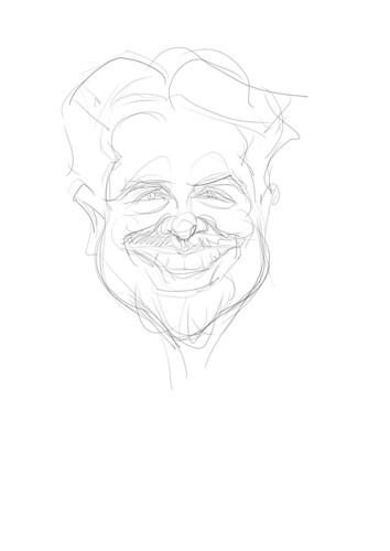 digital sketch of Alan Hermosillo Ibrarra - 1