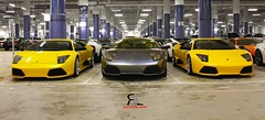 The Three Musketeers (~<*< R.L. Scuderia >*>~) Tags: yellow canon eos grey singapore grigio giallo worlds sentosa resorts lamborghini gallardo murcielago superleggera 550d lp640 lp5502 lp5704