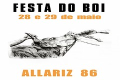Allariz - 1986 - Festa do Boi - cartel