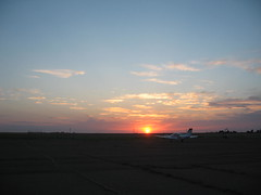 Sunset (funny strange or funny ha ha) Tags: school sunset oklahoma reunion plane airplane town airport memorial day all weekend small fabulous ok hooker panhandle 2010