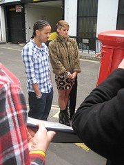 Pussycat Doll Kimberly Wyatt and Aggro Santos in Sony Ericsson's Pocket TV (Pocket TV) Tags: sonyericsson pussycatdolls pockettv kimberlywyatt aggrosantos