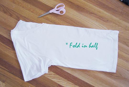 T-shirt DIY+Bathing suit slub cover up -3