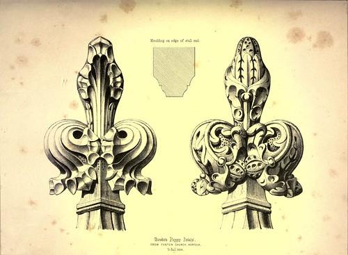 001-Remates de madera de adormidera-Iglesia Paston en Norfolk -Gothic ornaments.. 1848-50-)- Kellaway Colling