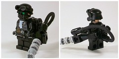 Weird War II SS Leader (*Nobodycares*) Tags: lego ss helmet goggles worldwarii guns gasmask minigun germans brickarms minifigcat weirdwarii