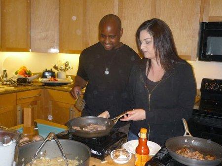 Chef Lea and Bryan