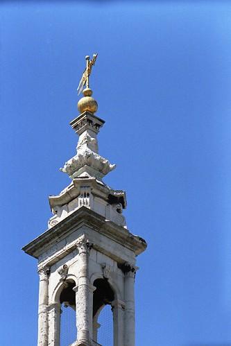 Christ Church Greyfriars spire top.