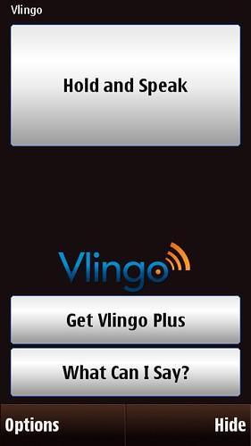 Vlingo Start Screen