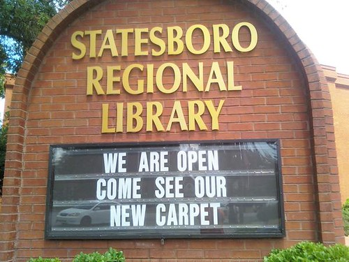 Statesboro Regional Library: Come see our carpet.