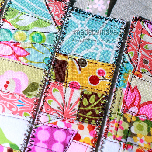 Fabric scraps bookmark