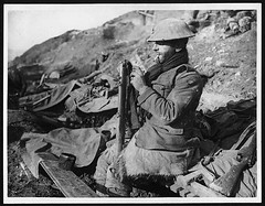 Before shaving Tommy cleans his rifle after coming out of the trenches (National Library of Scotland) Tags: france soldier war propaganda wwi great rifle photojournalism rifles cleaning worldwari worldwarone soldiers ww1 britisharmy greatwar firstworldwar helmets flanders smle thegreatwar tommies leeenfield 19141918 warphotography photographicprints shortmagazineleeenfield leeenfieldrifle nls:dodprojectid=74462