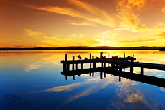 Squids Ink Jetty (Slika Images / Justin Jefferson) Tags: sunset belmont lakemacquarie cokinfilter squidsink