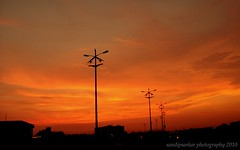 JUNE 10 - MY BIRTHDAY GIFT FROM GOD (sandy_photo) Tags: sunset india nature evening twilight streetlight sony sandy saltlake kolkata bengal sandip westbengal blueribbonwinner sillohoutte rajarhat supershot unitech sectorv mywinners summerofindia