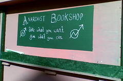 The Only Apt Bookshop for Stokes Croft (Birbeck) Tags: charity innercity anarchist subculture stokescroft bristoluk